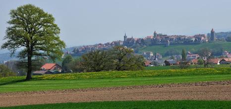 Photo: Sur la colline : Romont Devant : Billens