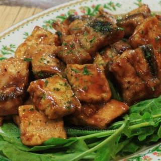 Teriyaki Bangus Belly Fillets and Tofu