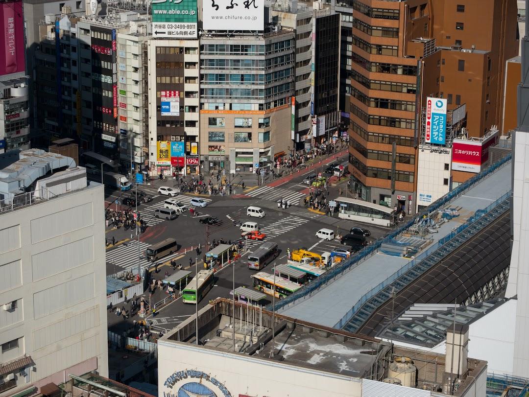 SHIBU NIWAからの眺め(宮益坂方面)