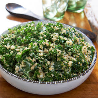 Quinoa and Kale Salad with Fresh Herbs.