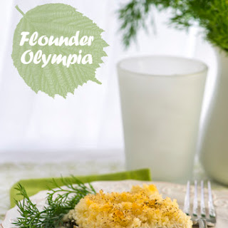 Flounder Olympia with a Panko Crust