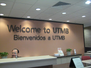 Photo: Lobby desk of the University of Texas Medical Branch
