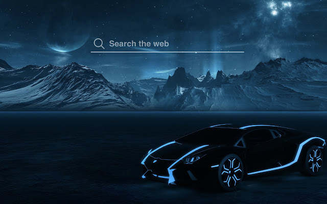 Tron Lamborghini HD Wallpaper Tab Theme