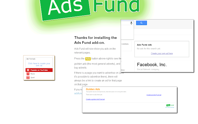 Ads Fund Official Chrome Add-on