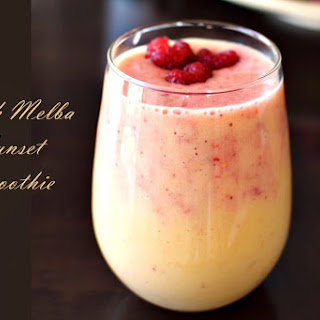 Peach Melba Sunset Smoothie.