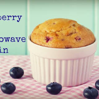 Blueberry Flax Microwave Muffin.