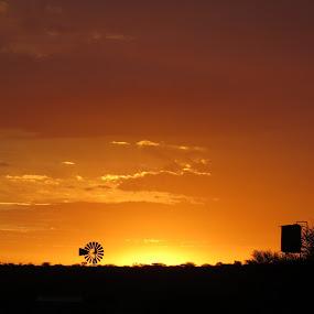 Namibian Sunset!!!!!!!!! by Kleintjie Loots - Landscapes Sunsets & Sunrises ( wimpie van rensburg )