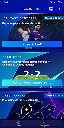 UEFA Champions League - Gaming Hub 4.3.5 androidappsheaven.com 2