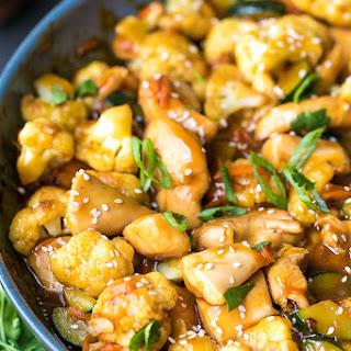 Teriyaki Chicken And Cauliflower.