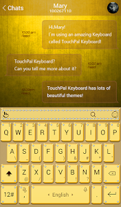 Golden Yellow Keyboard Theme screenshot 1