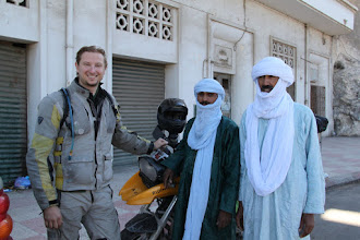 Photo: Saying farewell to our guides Ali and Mohamed at the port of Ghazaouet