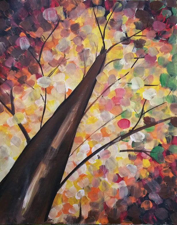 autumn fall tree paint nite