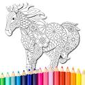 Animal coloring mandala pages icon