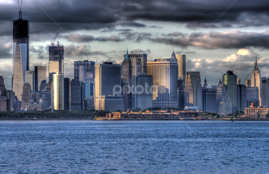 NYC Skyline II by Peter A Richardson - City,  Street & Park  Skylines ( skyline, nyc, pwcskylines )
