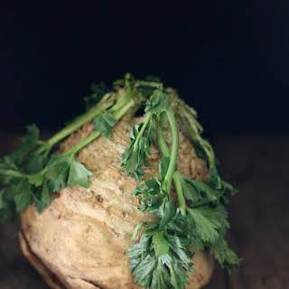 Celery Root Chicken & Mushroom Alfredo.