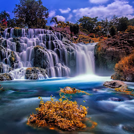 Catimor waterfall by Agus Sudharnoko - Landscapes Waterscapes