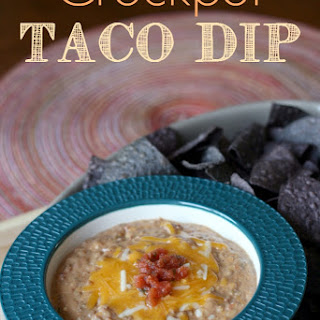 Crockpot Taco Bean Dip.