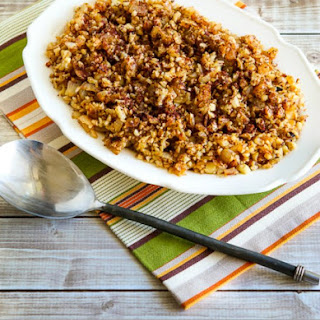 Low-Carb Cauliflower Rice with Fried Onions and Sumac.