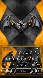 Metallic Bat Keyboard Theme - náhled