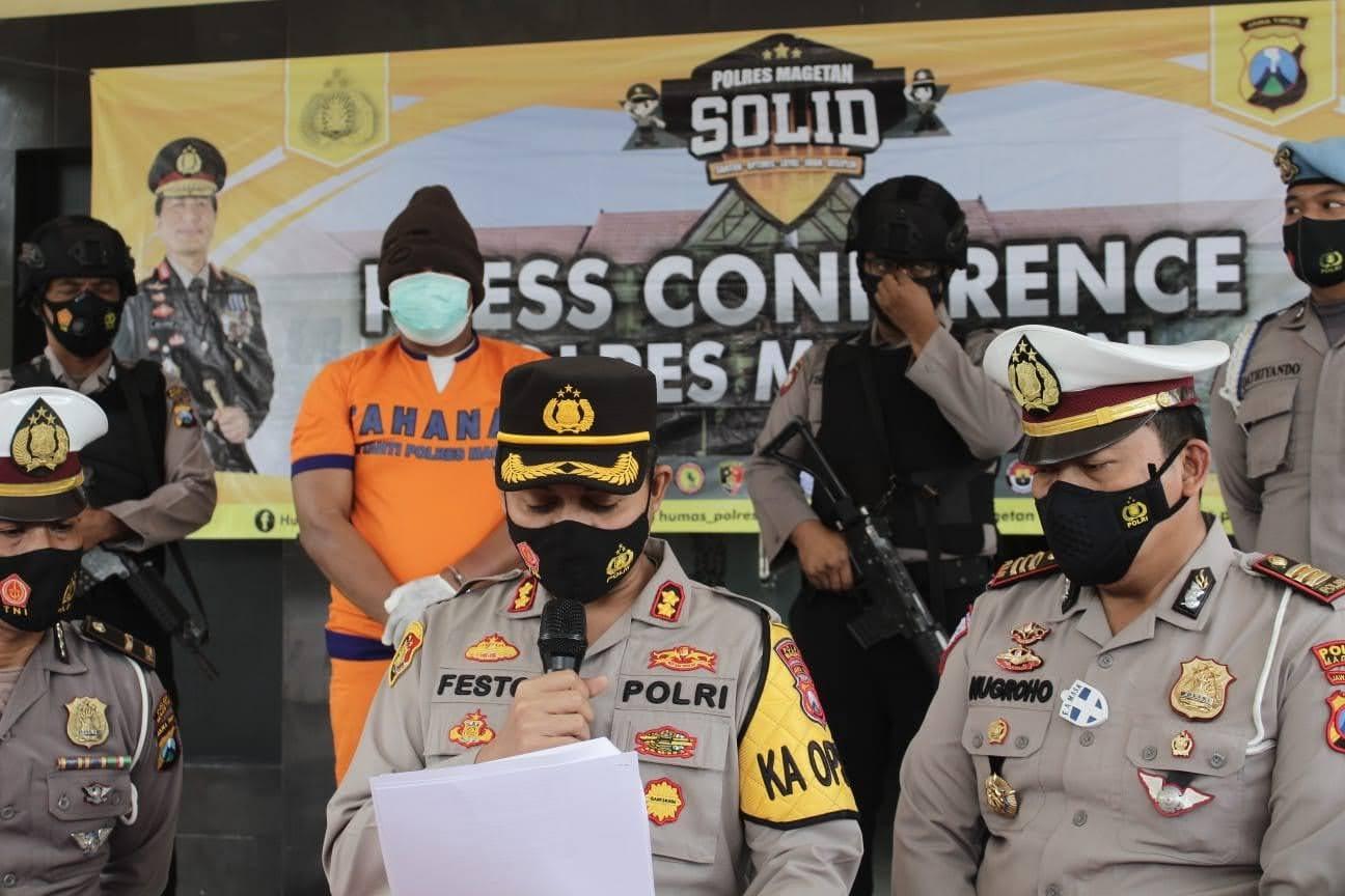 Lakalantas Maut di Tol Ngawi – Kertosono Makan Korban 4 MD Polres Magetan Konferensi Pers