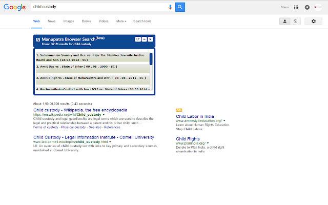 Manupatra Browser Search