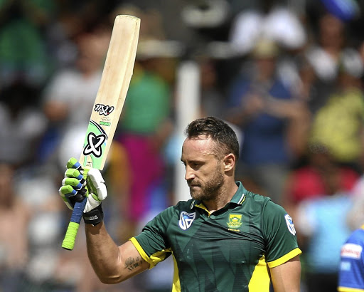 Man of the moment: Faf du Plessis of the Proteas during the 4th ODI between South Africa and Sri Lanka at PPC Newlands in Cape Town on Tuesday. Picture: CARL FOURIE/GALLO IMAGES