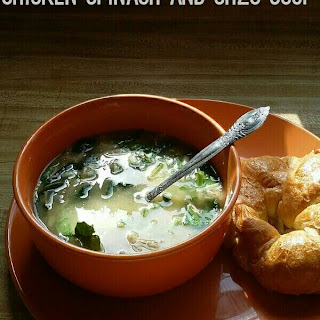 Slow Cooker Chicken Spinach and Orzo Soup
