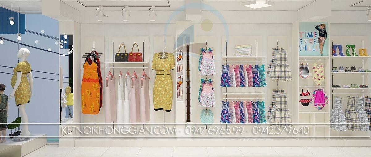 thiết kế shop mẹ và bé cao cấp