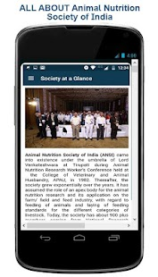 Animal Nutrition Soc. of India (ANSI) App - náhled