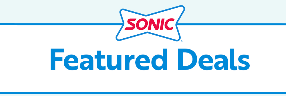 Sonic Drive In Deals