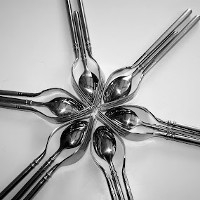 FORKS AND SPOONS by Irene Edwards - Artistic Objects Cups, Plates & Utensils