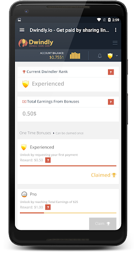 Dwindly.io - Earn Money By Sharing Links! 1.1 screenshots 4