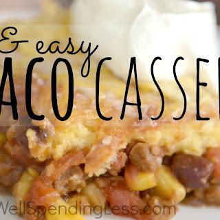 Quick & Easy Taco Casserole Recipe