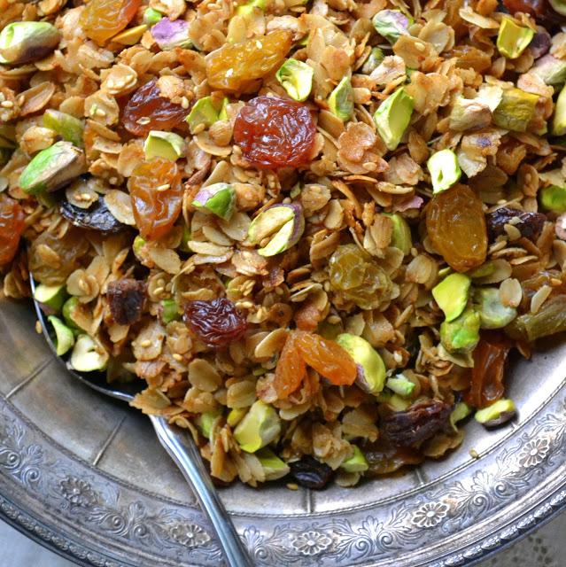 Pistachio Cardamom Granola Recipe