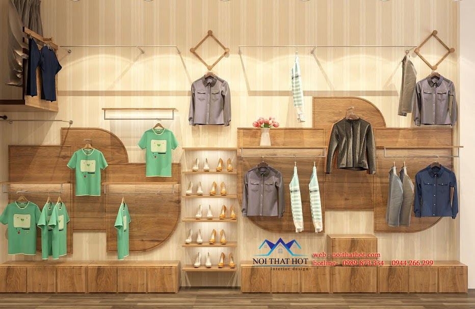 thiết kế cửa hàng thời trang phong cách sáng tạo, độc đáo