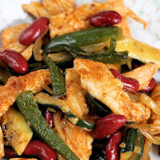 Chicken, Poblano & Bean Stir Fry.