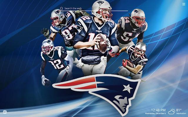 New England Patriots Nfl Hd Wallpaper New Tab
