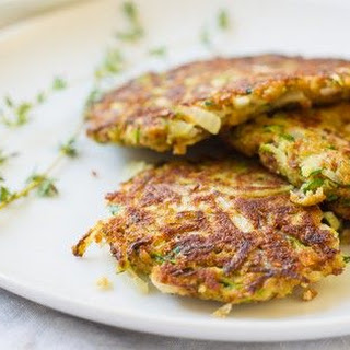 Crispy zucchini pancakes [Vegetarian]