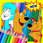 Coloring game For Scooby Dog