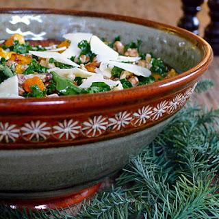 Roasted Butternut Squash, Farro and Kale Salad Recipe
