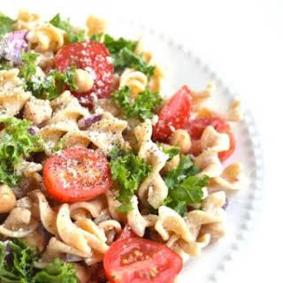 Kale Caesar Pasta Salad.