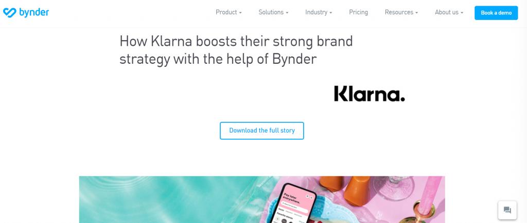 bynder Software zur Verwaltung von Markenwerten