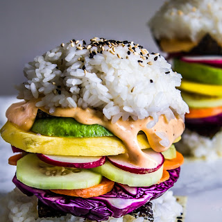 Rainbow Sushi Burgers.