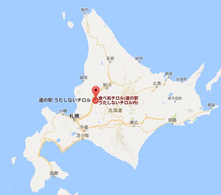地図:食べ処チロル