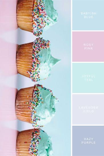 Cupcake Palette - Pinterest Pin Template