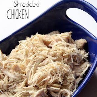 Easy Crockpot Shredded Chicken.