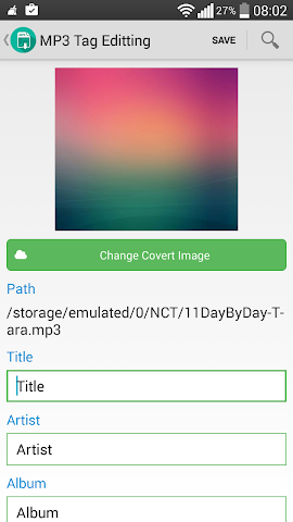 how to add artist to mp3 on android