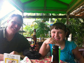 Photo: Ordering lunch at the Italian restaurant in Puerto Jimenez right before a huge storm blew in