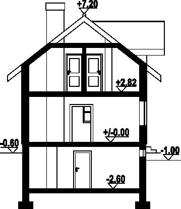 Osiek wąski 9 - Przekrój