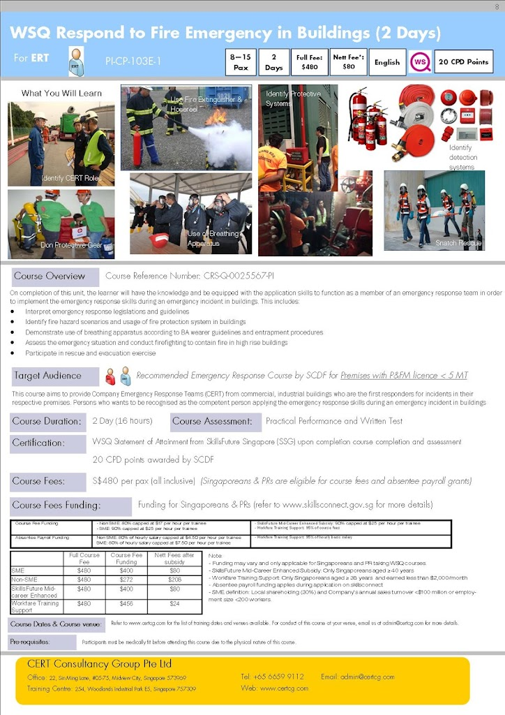 Respond to Fire Emergency in Buildings (2 days) by CCG